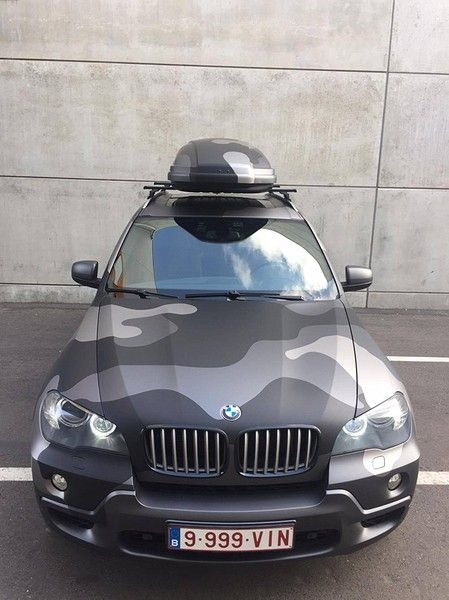 BMW X5 stealth camo wrap, Carwrapping door Wrapmyride.nu Foto-nr:11921, ©2019