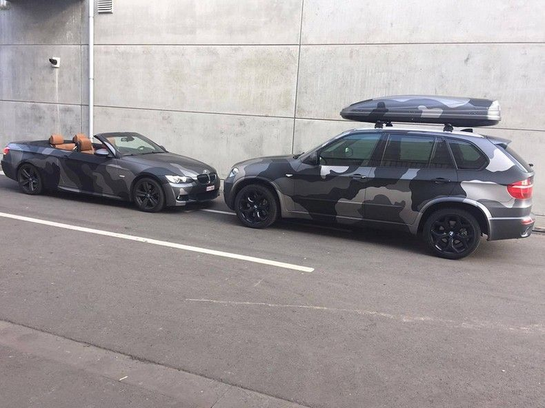 BMW X5 stealth camo wrap, Carwrapping door Wrapmyride.nu Foto-nr:11925, ©2019