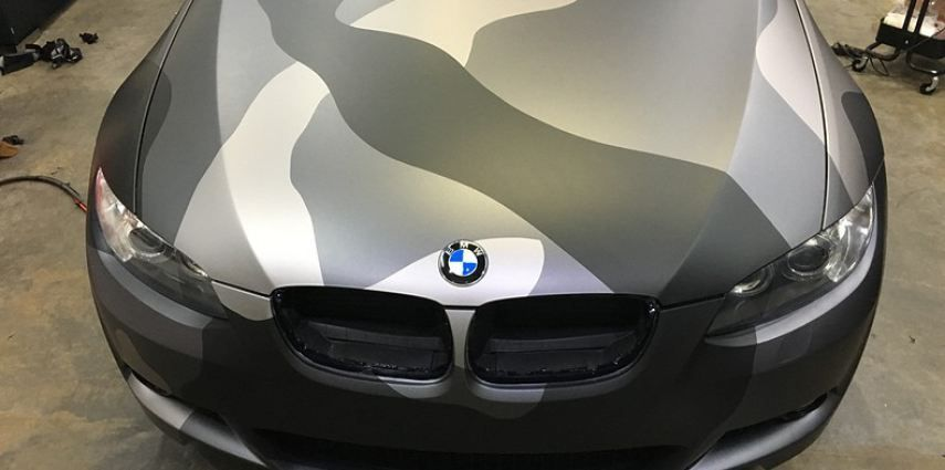 BMW 330 stealth camo wrap