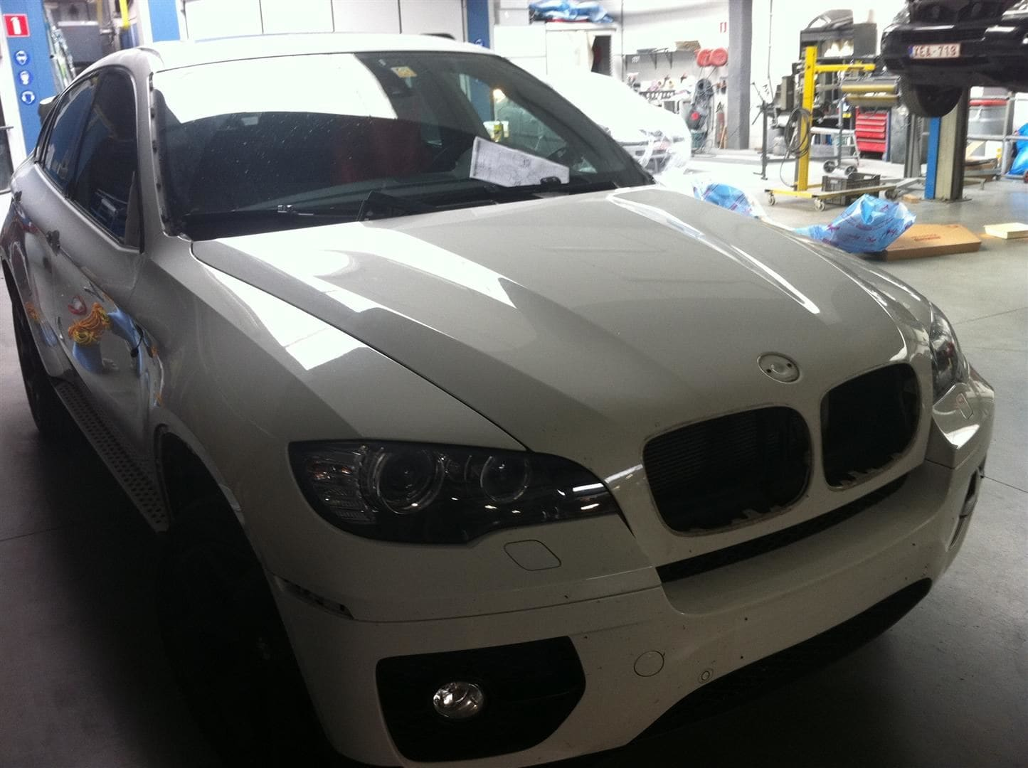 BMW X6 met Mat Rode Wrap, Carwrapping door Wrapmyride.nu Foto-nr:5451, ©2020