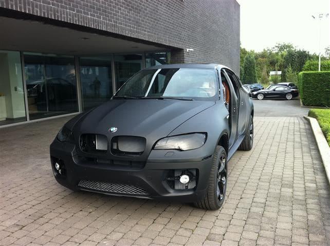 BMW X6 met Mat Zwarte Wrap, Carwrapping door Wrapmyride.nu Foto-nr:5499, ©2020