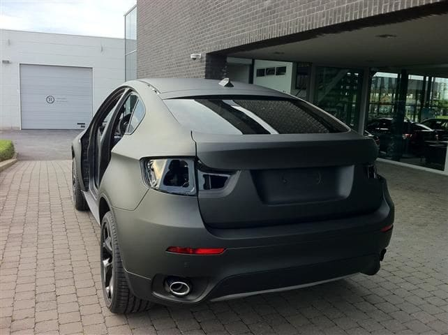 BMW X6 met Mat Zwarte Wrap, Carwrapping door Wrapmyride.nu Foto-nr:5500, ©2020