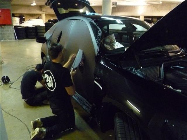 BMW X6 met Mat Zwarte Wrap, Carwrapping door Wrapmyride.nu Foto-nr:5501, ©2020
