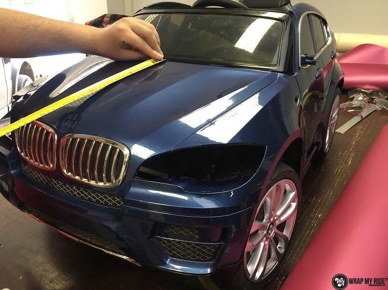 BMW X6 mini matte metallic pink, Carwrapping door Wrapmyride.nu Foto-nr:11346, ©2020