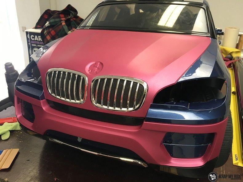 BMW X6 mini matte metallic pink, Carwrapping door Wrapmyride.nu Foto-nr:11345, ©2021