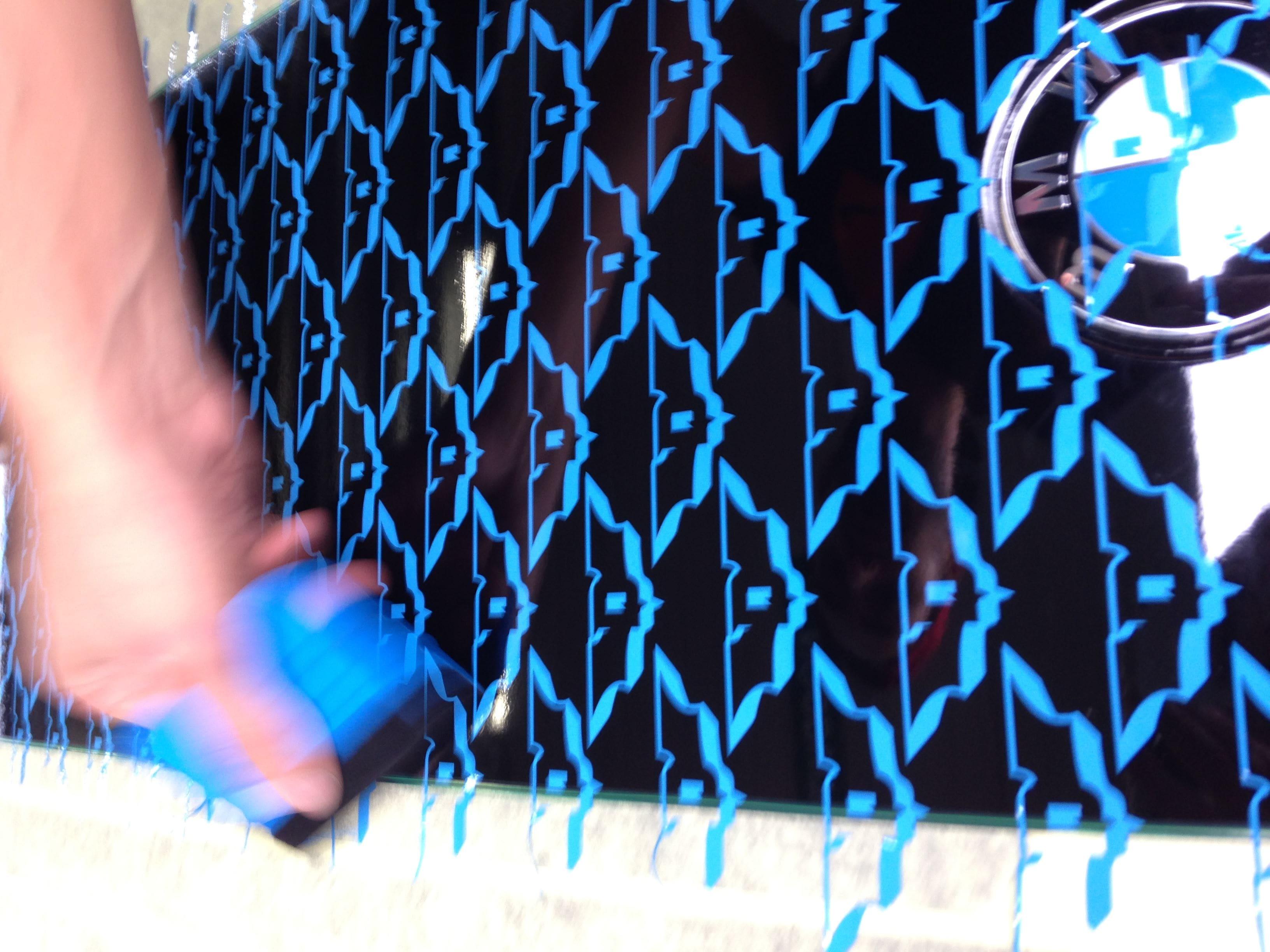 BWM 5 Serie met een Speciale Darkraver Wrap, Carwrapping door Wrapmyride.nu Foto-nr:5209, ©2021