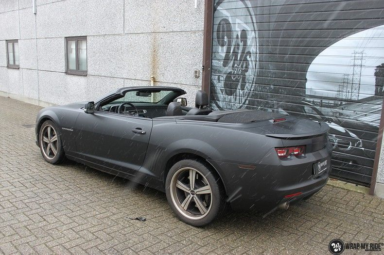 Chevrolet Camaro Matte Deep Black, Carwrapping door Wrapmyride.nu Foto-nr:10767, ©2020