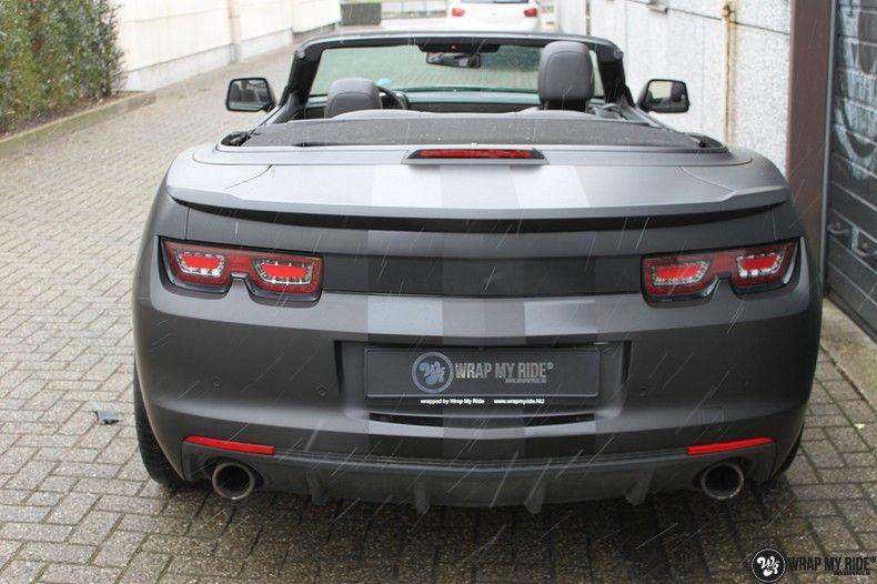 Chevrolet Camaro Matte Deep Black, Carwrapping door Wrapmyride.nu Foto-nr:10766, ©2019