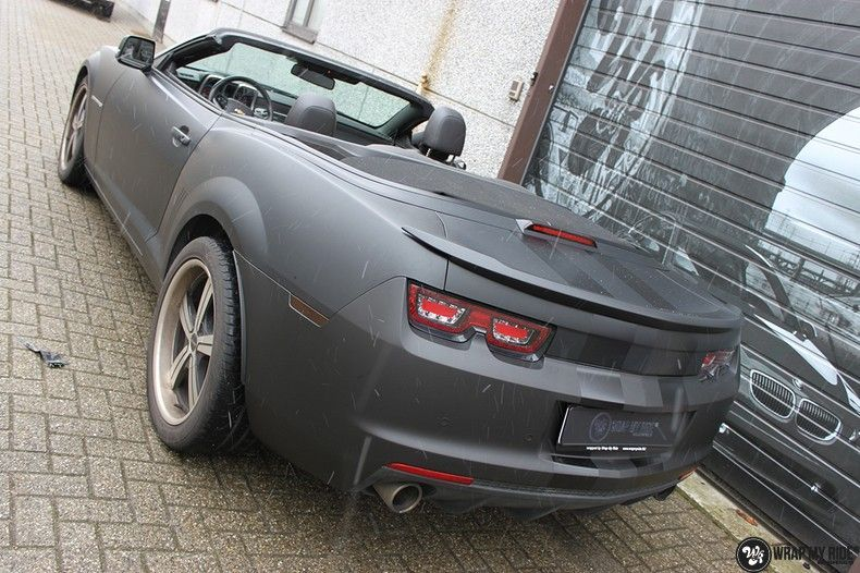 Chevrolet Camaro Matte Deep Black, Carwrapping door Wrapmyride.nu Foto-nr:10765, ©2020