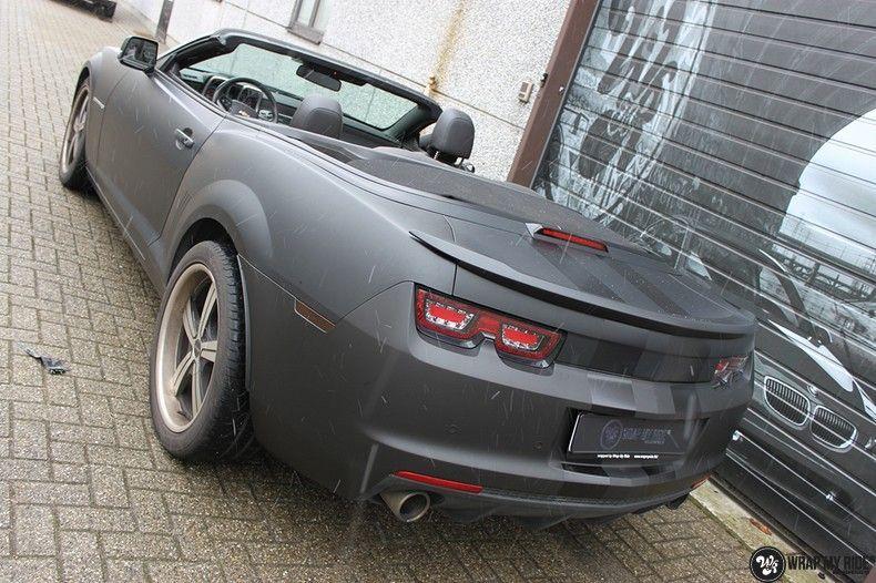 Chevrolet Camaro Matte Deep Black, Carwrapping door Wrapmyride.nu Foto-nr:10765, ©2019