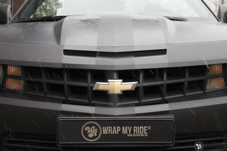 Chevrolet Camaro Matte Deep Black, Carwrapping door Wrapmyride.nu Foto-nr:10761, ©2020