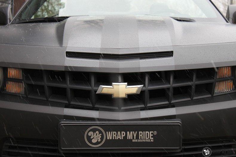 Chevrolet Camaro Matte Deep Black, Carwrapping door Wrapmyride.nu Foto-nr:10761, ©2019