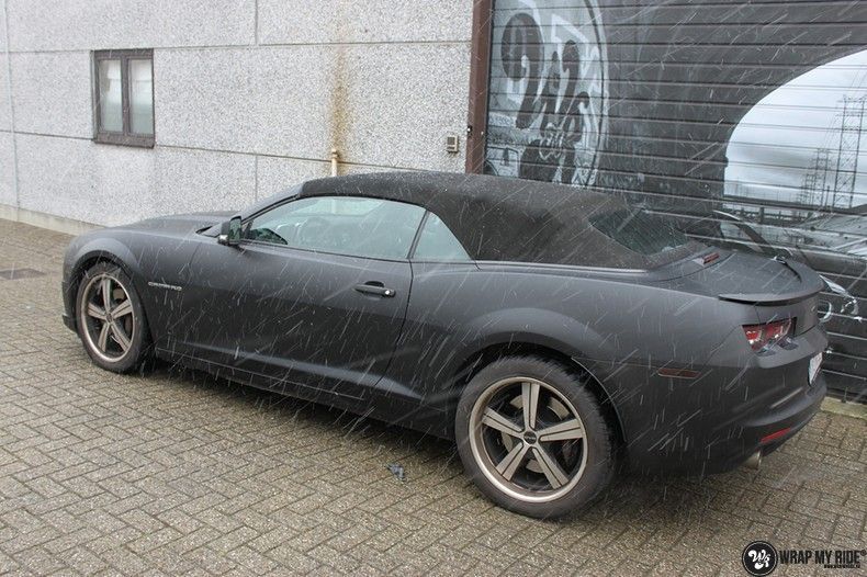 Chevrolet Camaro Matte Deep Black, Carwrapping door Wrapmyride.nu Foto-nr:10759, ©2020