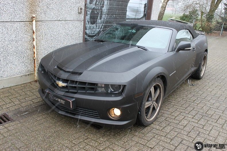 Chevrolet Camaro Matte Deep Black, Carwrapping door Wrapmyride.nu Foto-nr:10758, ©2020