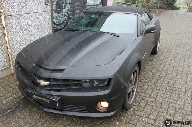 Chevrolet Camaro Matte Deep Black, Carwrapping door Wrapmyride.nu Foto-nr:10756, ©2020