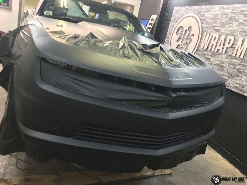 Chevrolet Camaro Matte Deep Black, Carwrapping door Wrapmyride.nu Foto-nr:10773, ©2019
