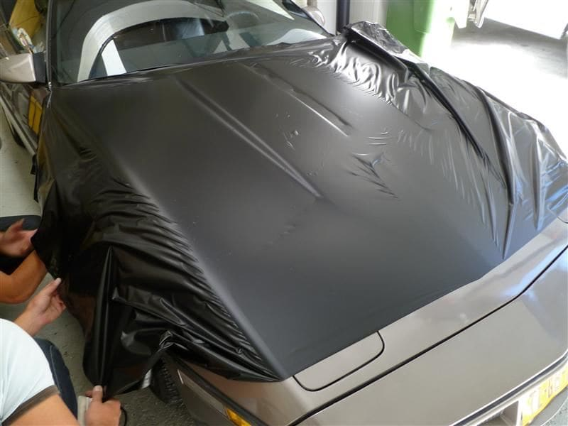 Chevrolet Corvette C4 met Mat Zwarte Wrap, Carwrapping door Wrapmyride.nu Foto-nr:5510, ©2021