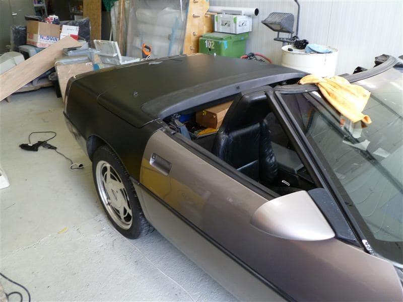 Chevrolet Corvette C4 met Mat Zwarte Wrap, Carwrapping door Wrapmyride.nu Foto-nr:5513, ©2021