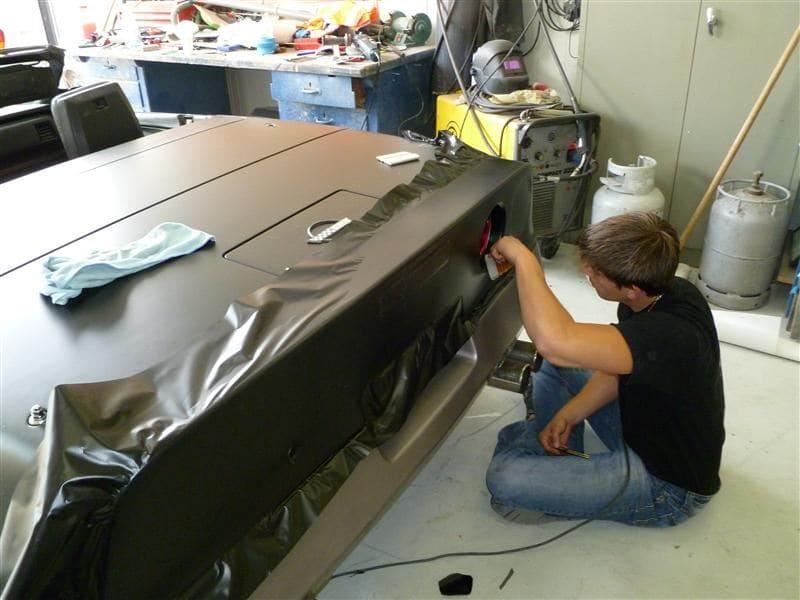Chevrolet Corvette C4 met Mat Zwarte Wrap, Carwrapping door Wrapmyride.nu Foto-nr:5514, ©2021