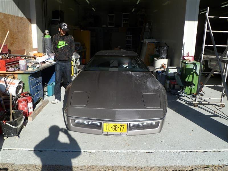 Chevrolet Corvette C4 met Mat Zwarte Wrap, Carwrapping door Wrapmyride.nu Foto-nr:5508, ©2021