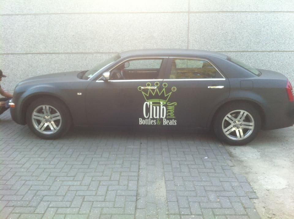 Chrysler 300c voor Club Sweet, Carwrapping door Wrapmyride.nu Foto-nr:5570, ©2020