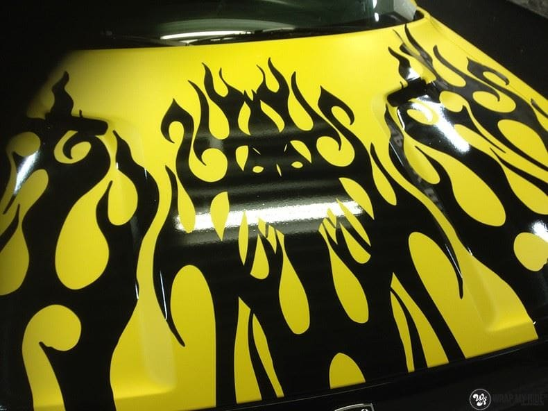 Dodge Challenger matte yellow, Carwrapping door Wrapmyride.nu Foto-nr:8482, ©2020