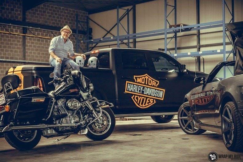 Dodge Ram Harley Davidson edition, Carwrapping door Wrapmyride.nu Foto-nr:9000, ©2020