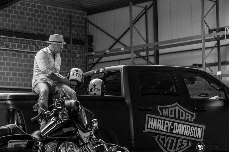 Dodge Ram Harley Davidson edition, Carwrapping door Wrapmyride.nu Foto-nr:9001, ©2021