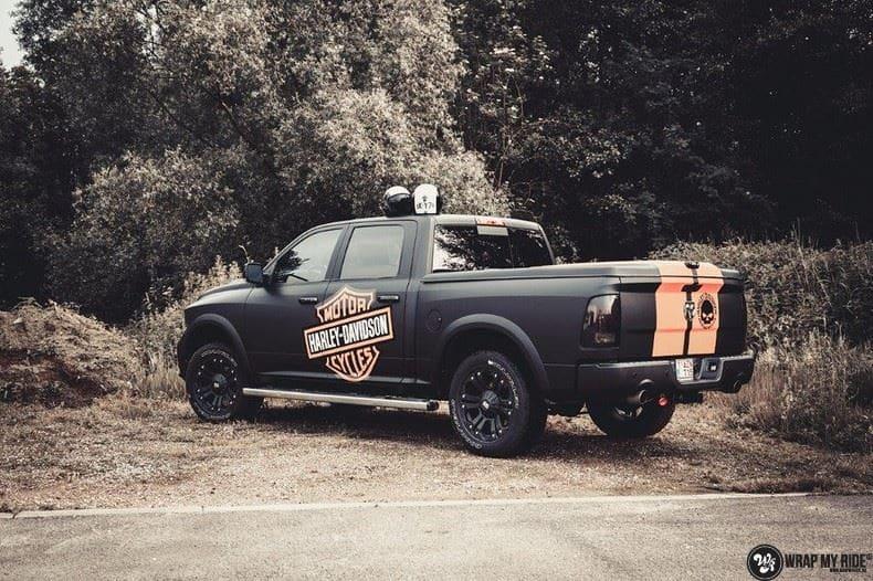 Dodge Ram Harley Davidson edition, Carwrapping door Wrapmyride.nu Foto-nr:9003, ©2020
