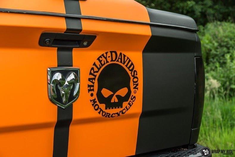 Dodge Ram Harley Davidson edition, Carwrapping door Wrapmyride.nu Foto-nr:9004, ©2021
