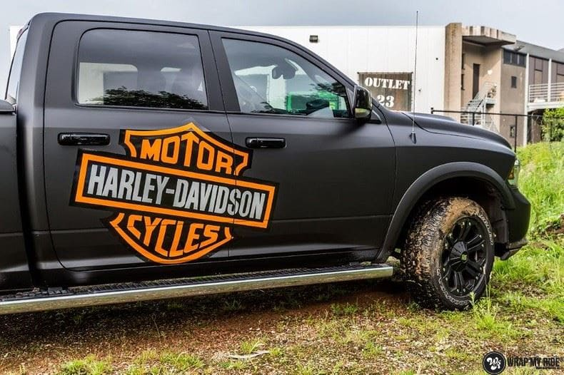 Dodge Ram Harley Davidson edition, Carwrapping door Wrapmyride.nu Foto-nr:9010, ©2021