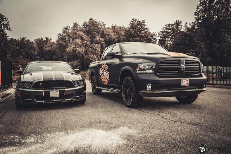 Dodge Ram Harley Davidson edition, Carwrapping door Wrapmyride.nu Foto-nr:9012, ©2020