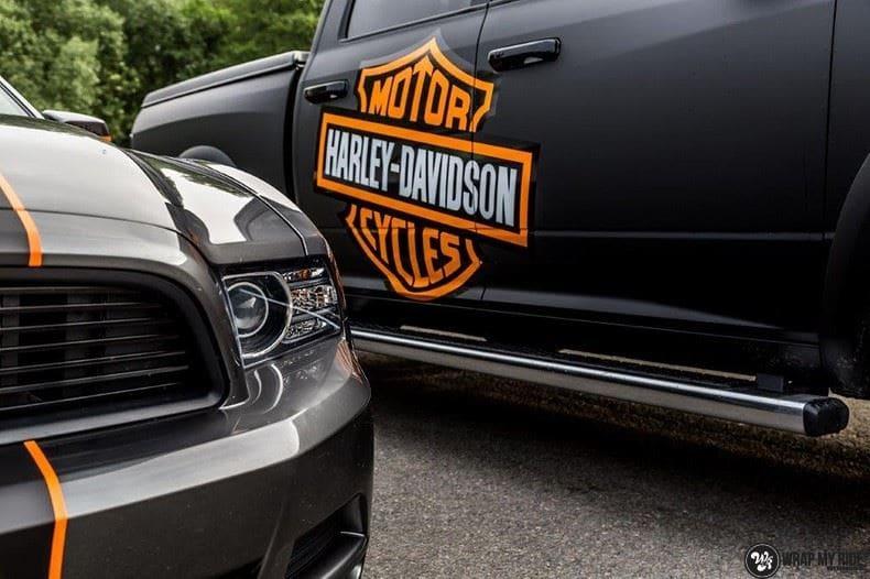Dodge Ram Harley Davidson edition, Carwrapping door Wrapmyride.nu Foto-nr:9013, ©2021