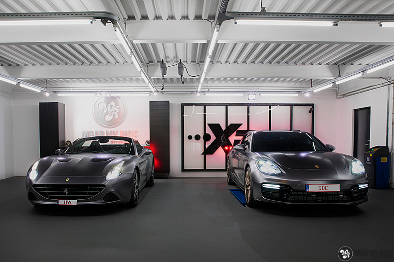 Ferrari California satin dark grey, Carwrapping door Wrapmyride.nu Foto-nr:13847, ©2020