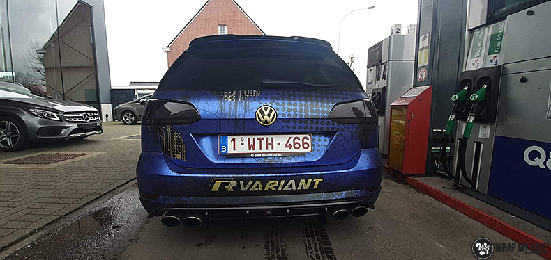 VW golf 7,5 R Variant, Carwrapping door Wrapmyride.nu Foto-nr:13991, ©2021