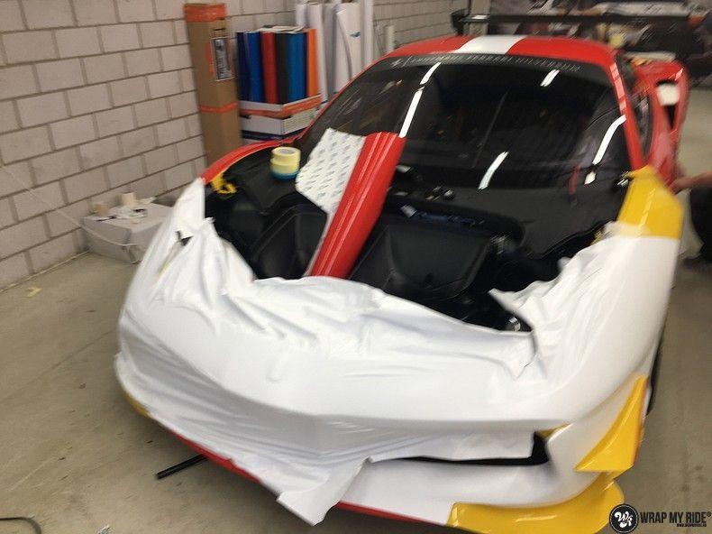 Ferrari 488 gtb the challenge wrap, Carwrapping door Wrapmyride.nu Foto-nr:11316, ©2021