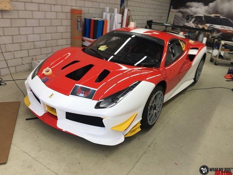 Ferrari 488 gtb the challenge wrap, Carwrapping door Wrapmyride.nu Foto-nr:11312, ©2021