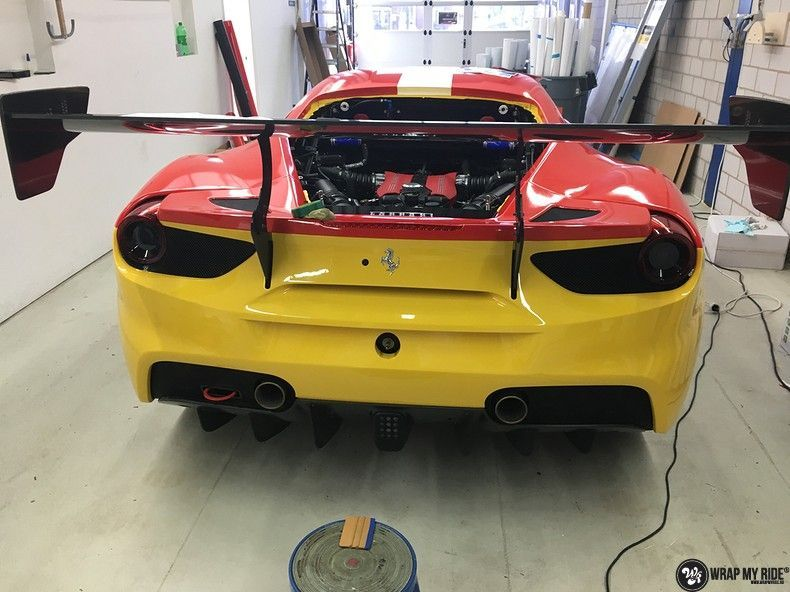 Ferrari 488 gtb the challenge wrap, Carwrapping door Wrapmyride.nu Foto-nr:11310, ©2020