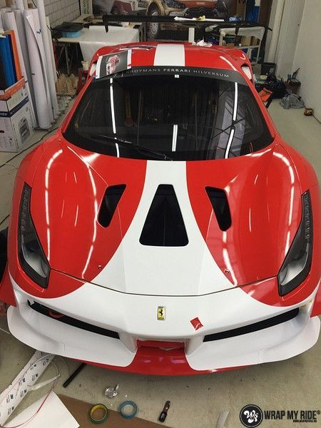 Ferrari 488 gtb the challenge wrap, Carwrapping door Wrapmyride.nu Foto-nr:11309, ©2020