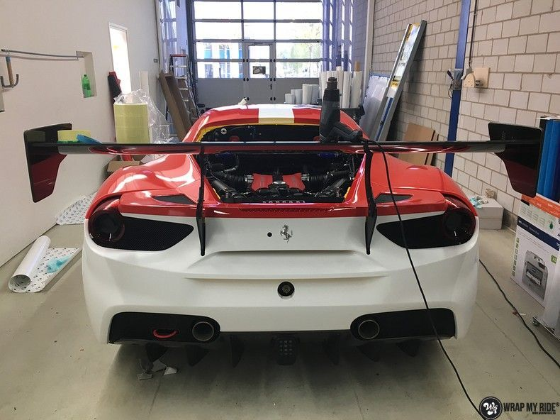 Ferrari 488 gtb the challenge wrap, Carwrapping door Wrapmyride.nu Foto-nr:11307, ©2020