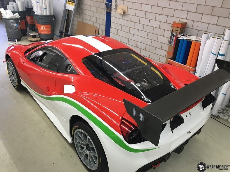 Ferrari 488 gtb the challenge wrap, Carwrapping door Wrapmyride.nu Foto-nr:11302, ©2021