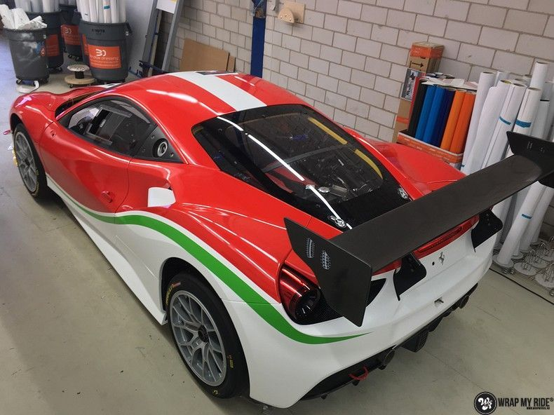 Ferrari 488 gtb the challenge wrap, Carwrapping door Wrapmyride.nu Foto-nr:11304, ©2020