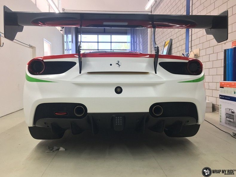 Ferrari 488 gtb the challenge wrap, Carwrapping door Wrapmyride.nu Foto-nr:11303, ©2020