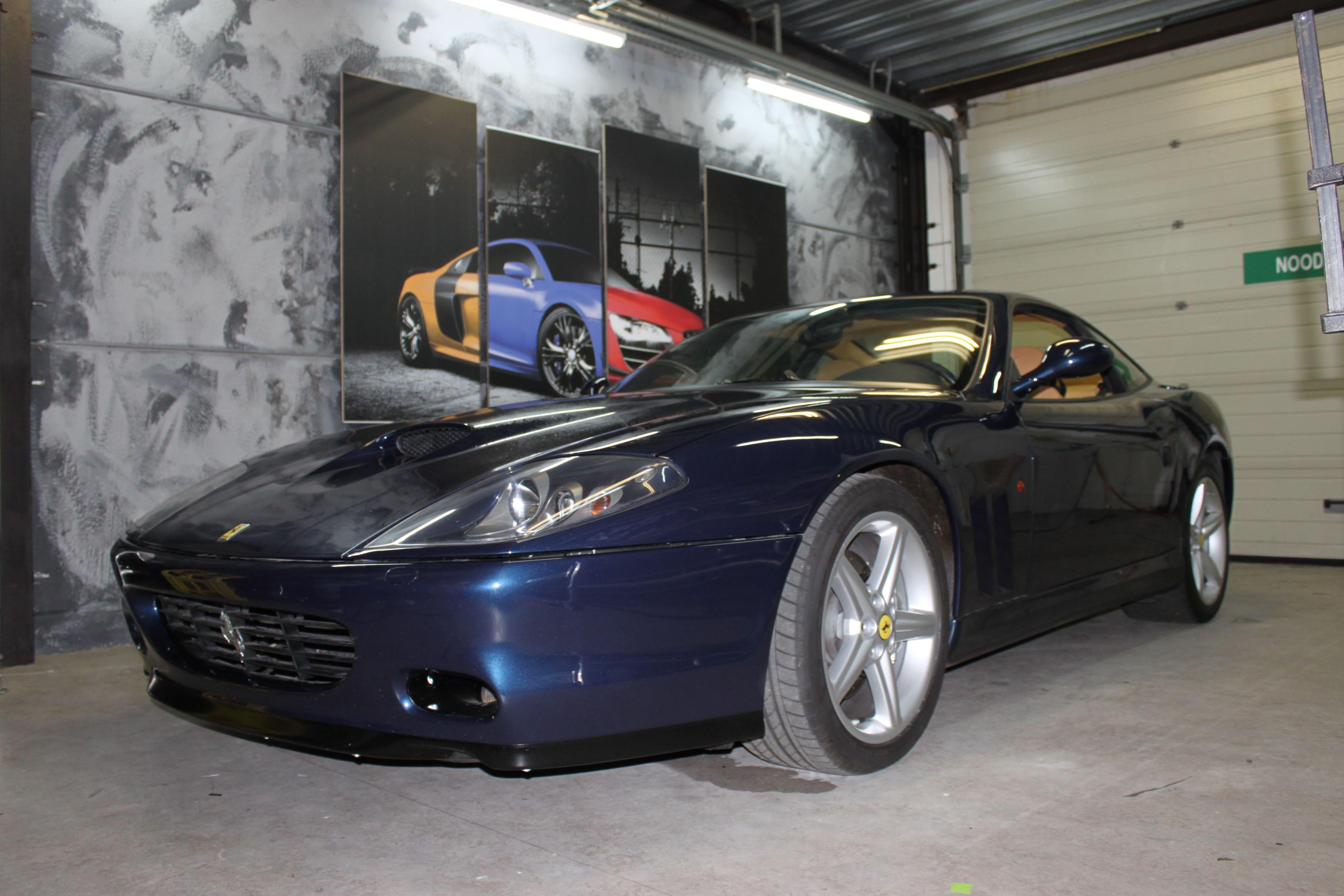 Ferrari 575 met Goud Chrome Wrap., Carwrapping door Wrapmyride.nu Foto-nr:5694, ©2021
