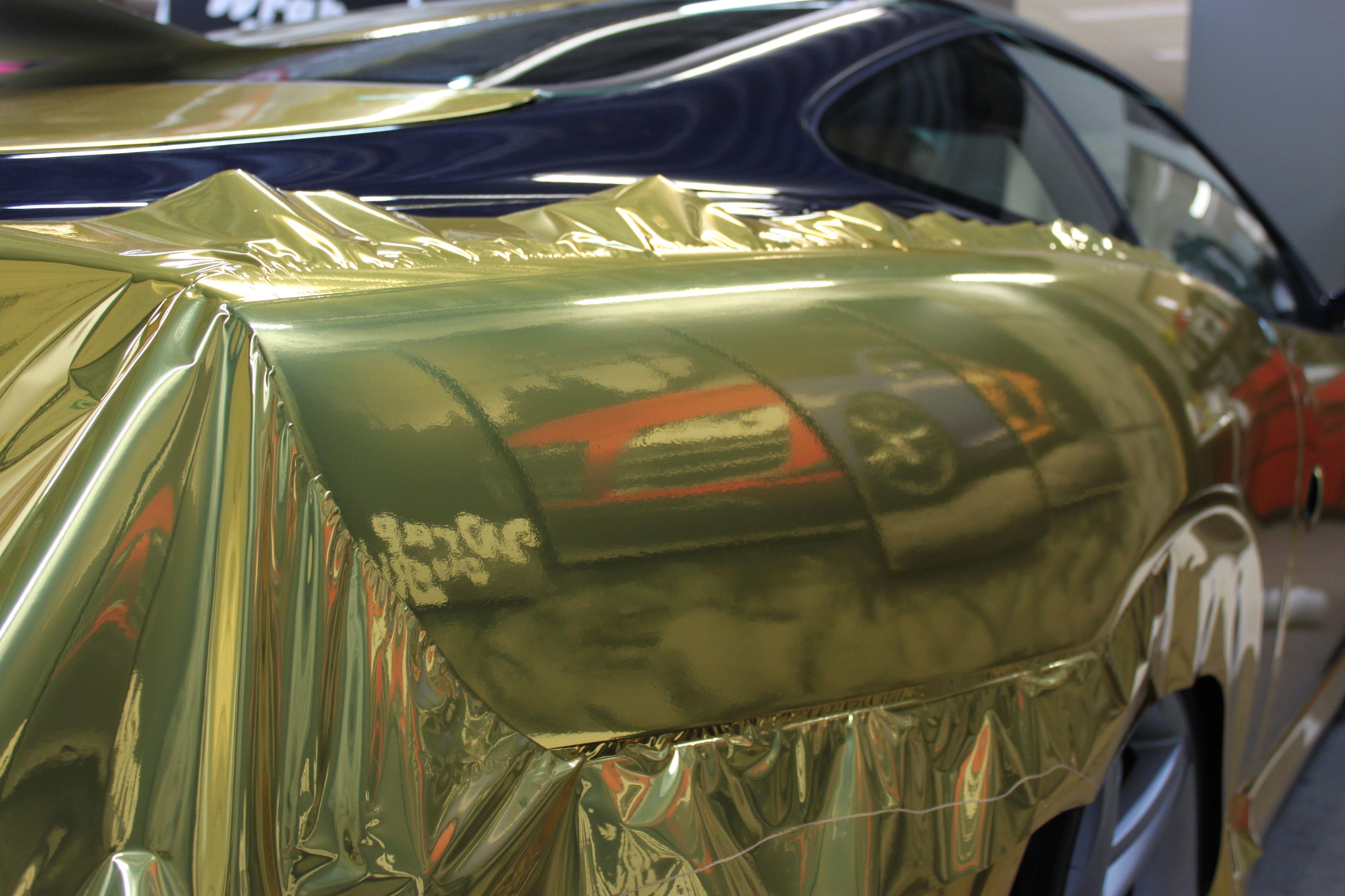 Ferrari 575 met Goud Chrome Wrap., Carwrapping door Wrapmyride.nu Foto-nr:5696, ©2021
