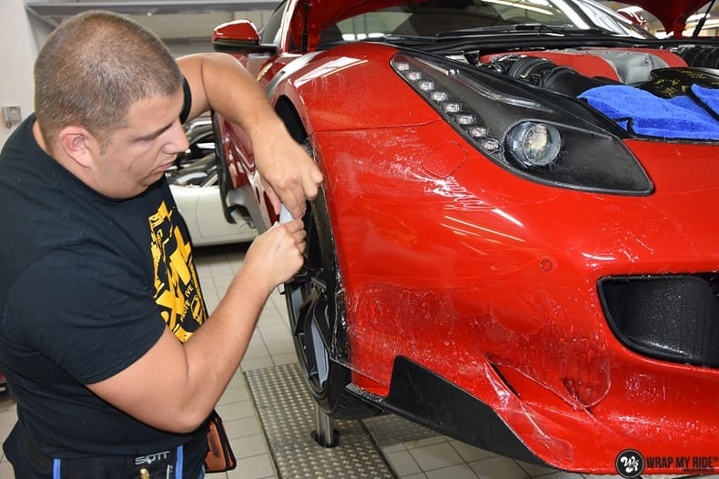 Ferrari F12 TDF Xpel Ultimate, Carwrapping door Wrapmyride.nu Foto-nr:10341, ©2018