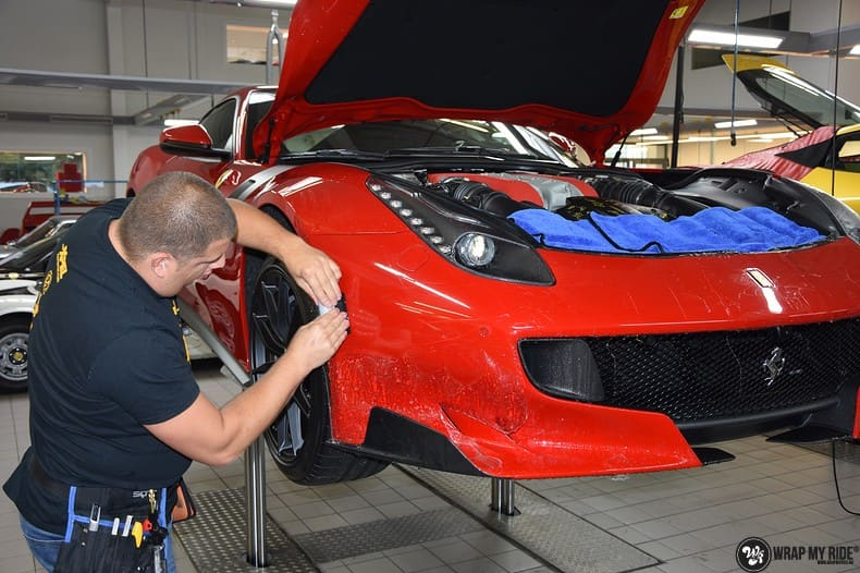 Ferrari F12 TDF Xpel Ultimate, Carwrapping door Wrapmyride.nu Foto-nr:10343, ©2018