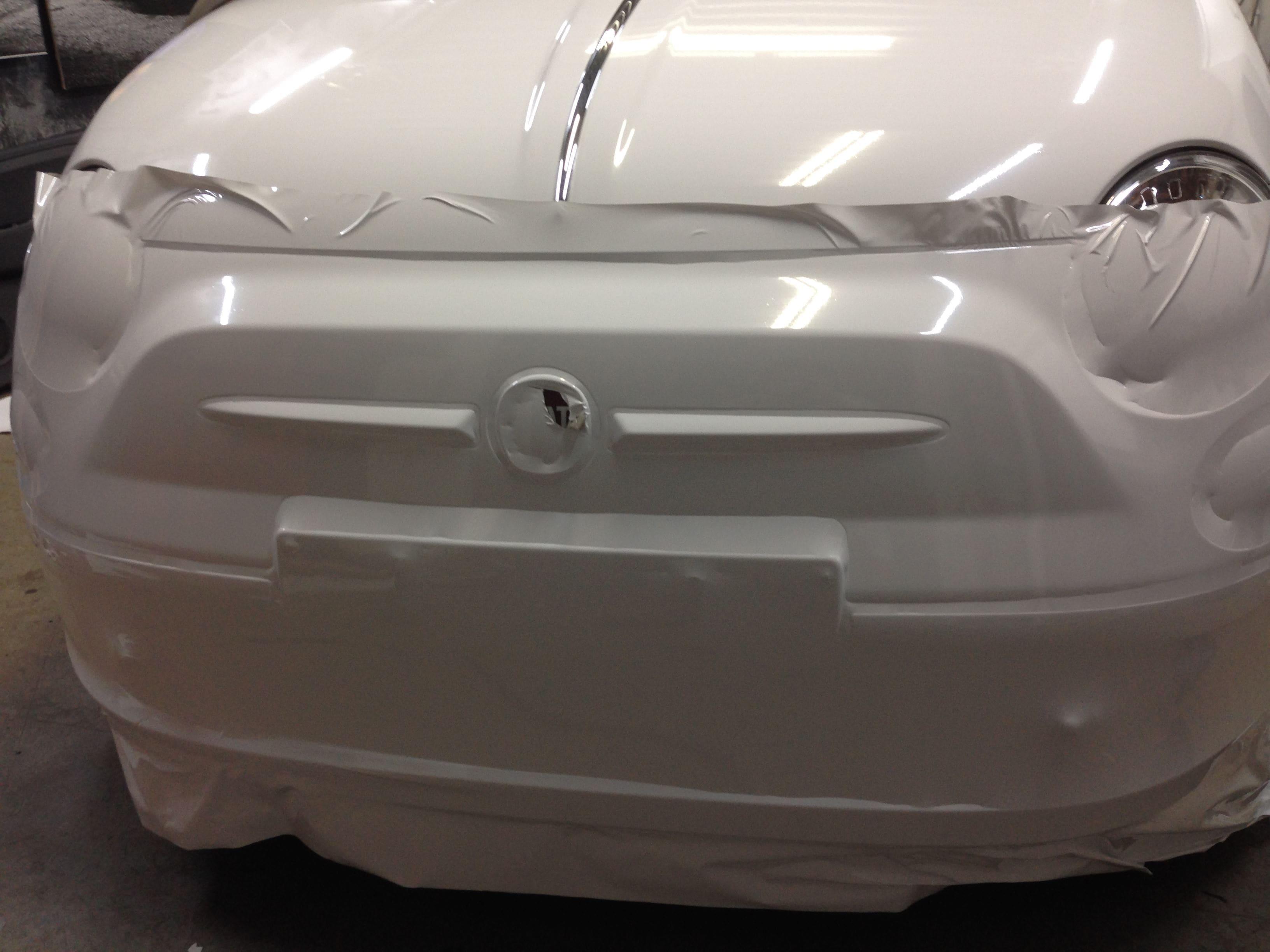 Fiat 500 met Glossy White Wrap, Carwrapping door Wrapmyride.nu Foto-nr:5724, ©2020
