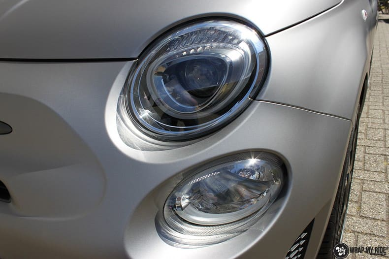 Fiat 595 Abart naar matte grey Aluminium, Carwrapping door Wrapmyride.nu Foto-nr:10015, ©2021