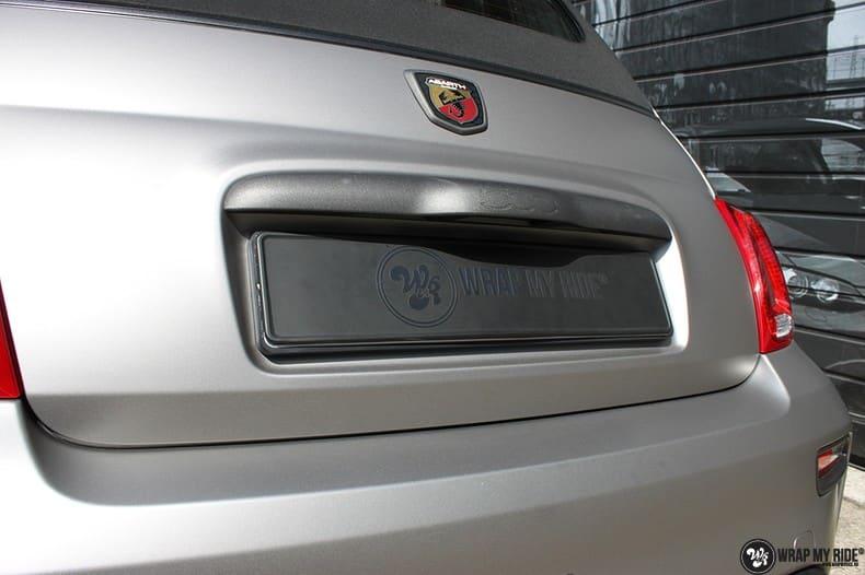 Fiat 595 Abart naar matte grey Aluminium, Carwrapping door Wrapmyride.nu Foto-nr:10016, ©2018